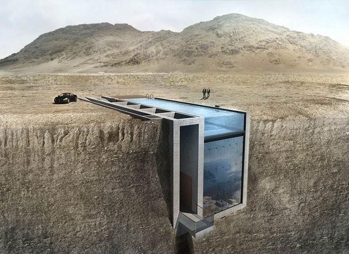 Уникальный дом в скале с восхительным видом на море (1)