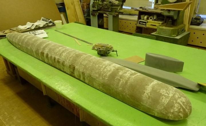 """Модель атомной подводной лодки 667-А """"Навага"""" в масштабе 1:50 (2)"""