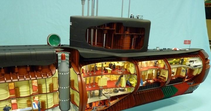 """Модель атомной подводной лодки 667-А """"Навага"""" в масштабе 1:50 (14)"""