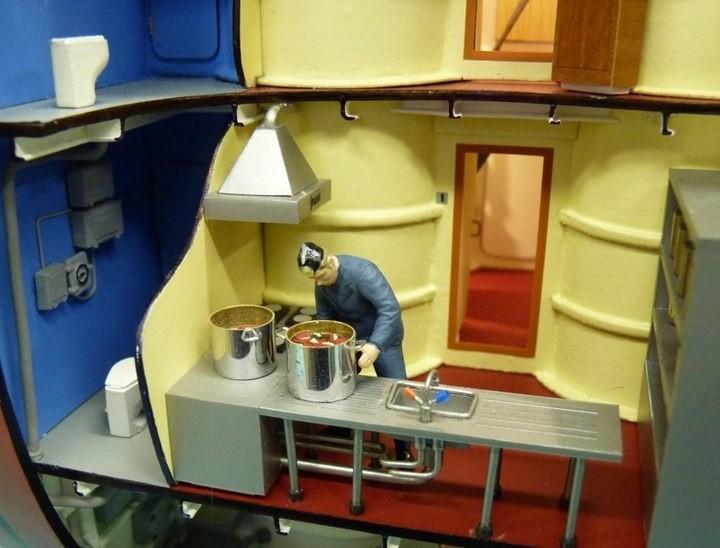 """Модель атомной подводной лодки 667-А """"Навага"""" в масштабе 1:50 (25)"""