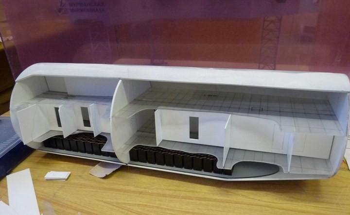"""Модель атомной подводной лодки 667-А """"Навага"""" в масштабе 1:50 (34)"""