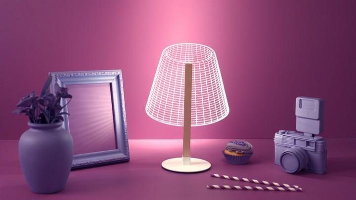 Удивительная плоская лампа дающая иллюзию объема (2)