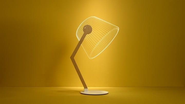 Удивительная плоская лампа дающая иллюзию объема (4)
