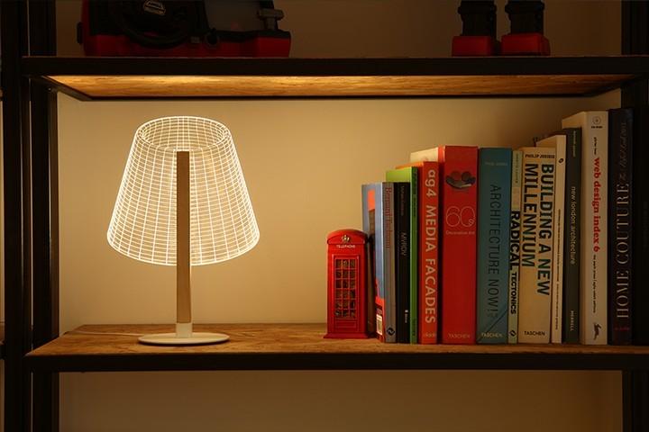 Удивительная плоская лампа дающая иллюзию объема (7)
