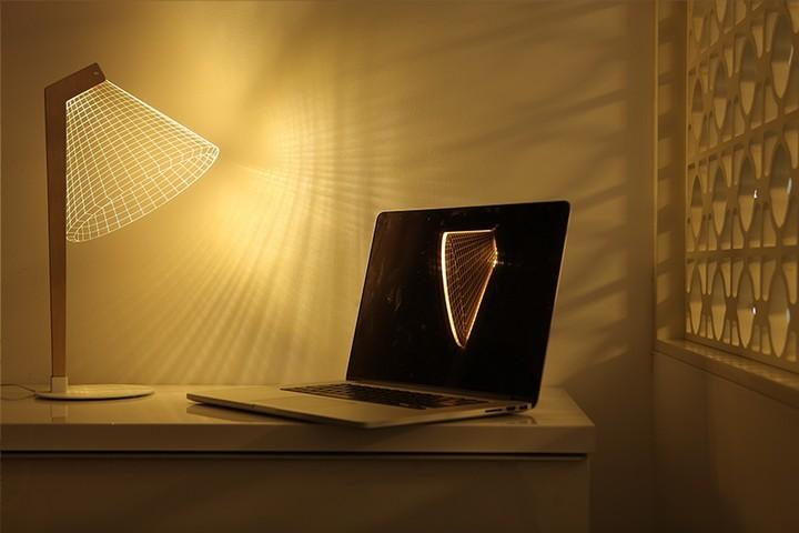 Удивительная плоская лампа дающая иллюзию объема (9)