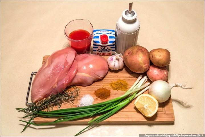 Курица-карри в сливочном соусе (2)