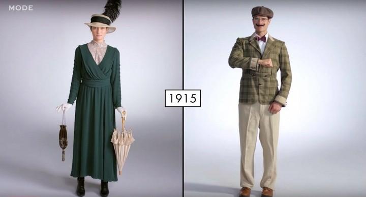 Как менялась мода в течении последних 100 лет (1)