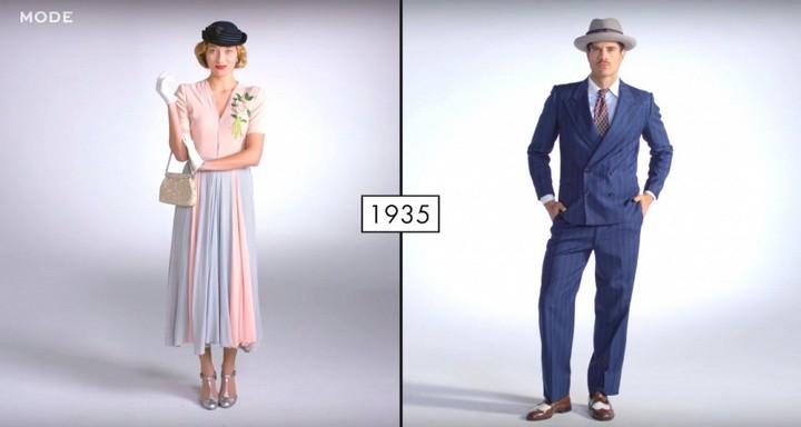 Как менялась мода в течении последних 100 лет (3)