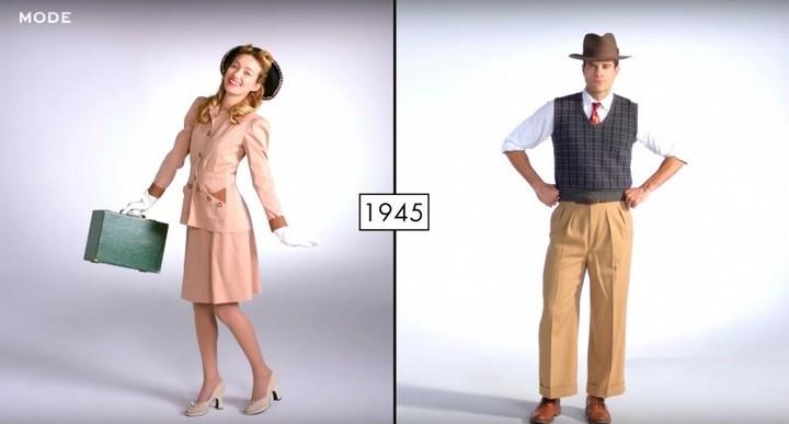 Как менялась мода в течении последних 100 лет (4)