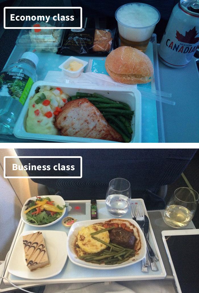 Чем кормят в самолётах крупных авиакомпаний (10)