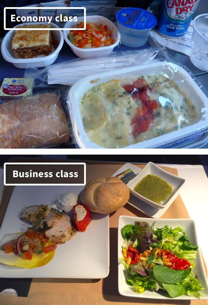 Чем кормят в самолётах крупных авиакомпаний (18)