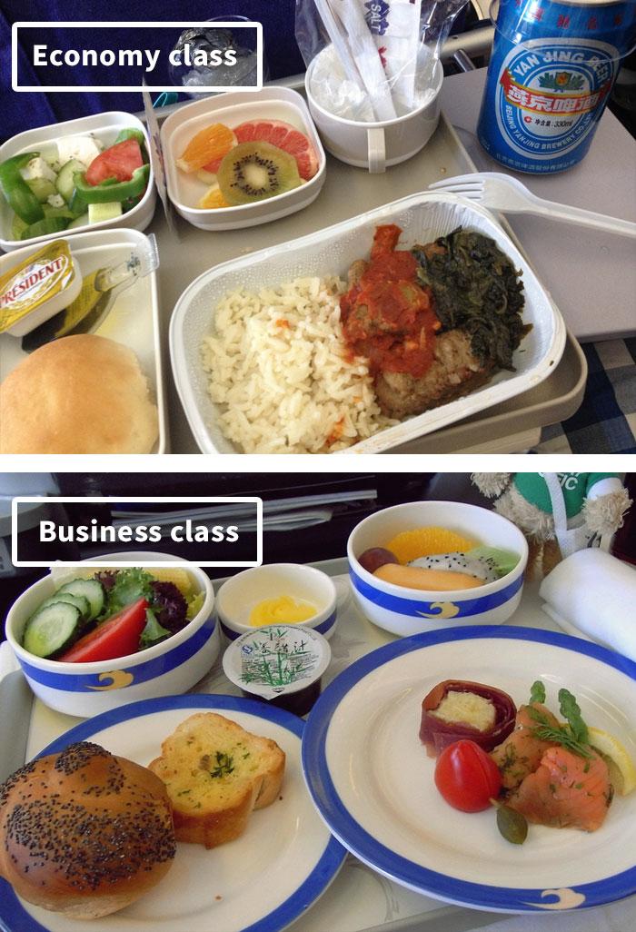Чем кормят в самолётах крупных авиакомпаний (19)