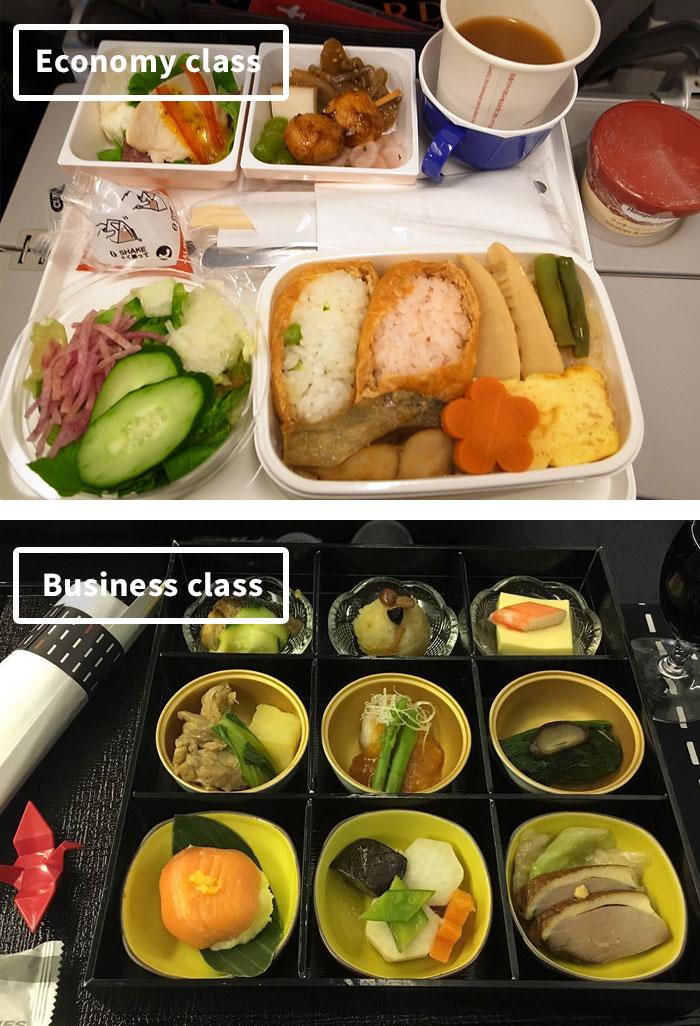 Чем кормят в самолётах крупных авиакомпаний (2)
