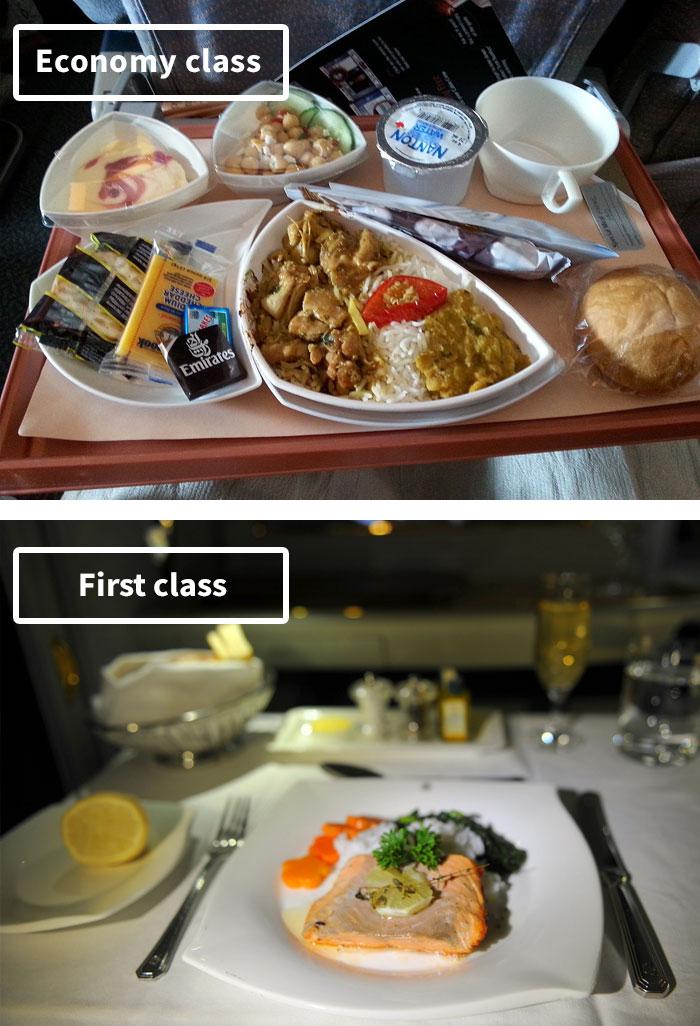 Чем кормят в самолётах крупных авиакомпаний (5)