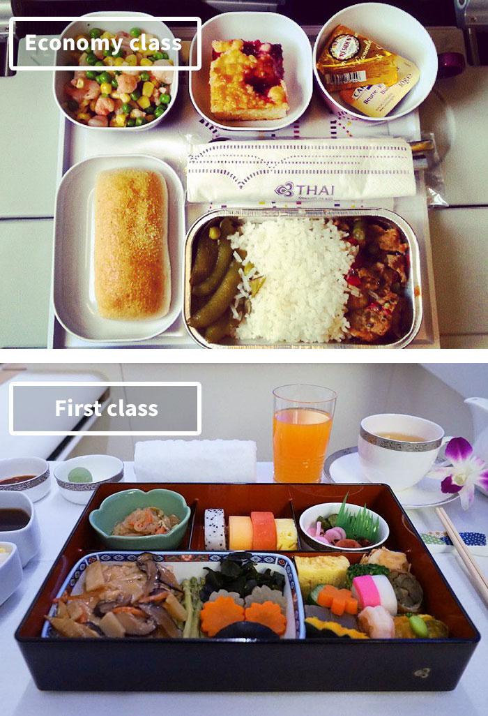 Чем кормят в самолётах крупных авиакомпаний (6)