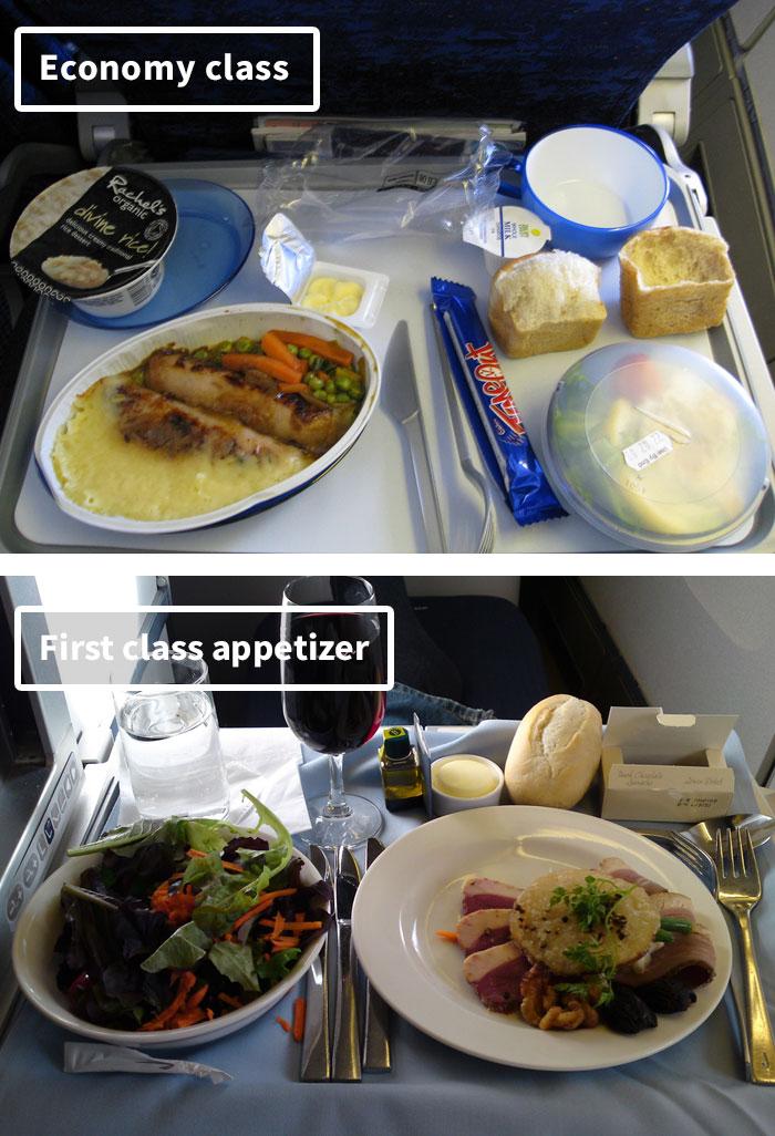 Чем кормят в самолётах крупных авиакомпаний (7)