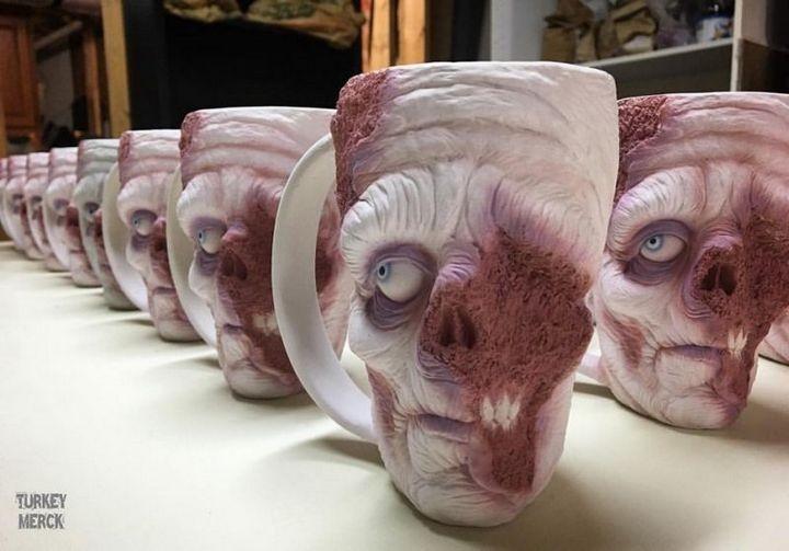 Реалистичные зомби-кружки (8)