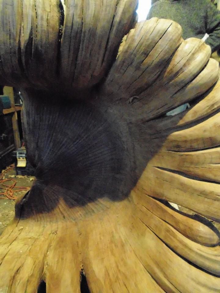 Уникальное кресло из корня дуба (9)