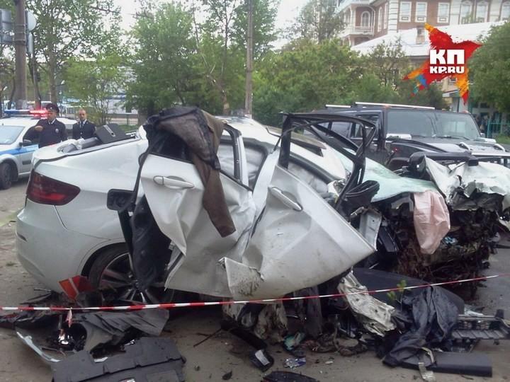 Жуткая авария в центре Симферополя с участием BMW X6M (5)