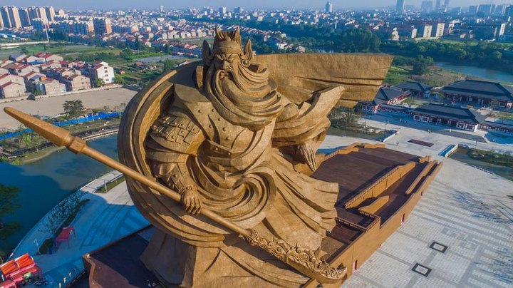 Гигантская статуя Гуань Юй в Китае (2)