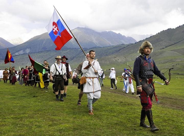 Церемония открытия Всемирных игр кочевников в Кыргызстане (12)