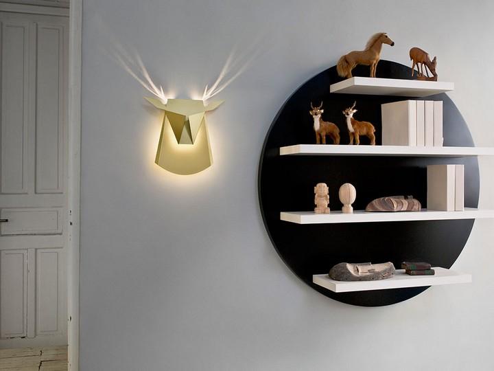 Необычные светильники в виде головы оленя и не только (4)