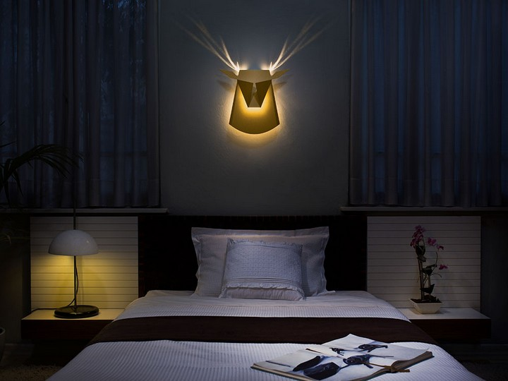 Необычные светильники в виде головы оленя и не только (6)