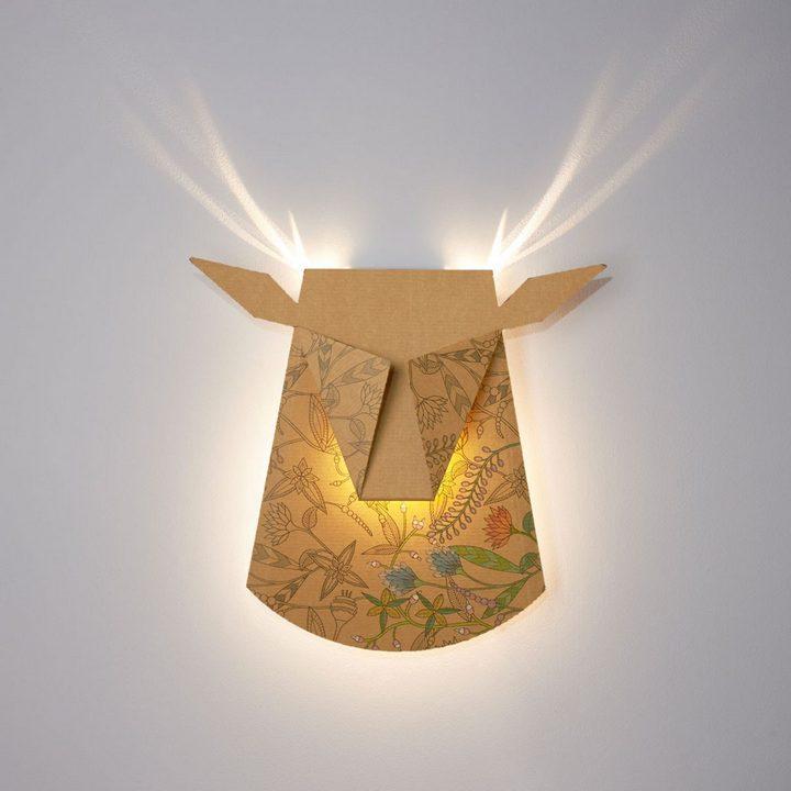 Необычные светильники в виде головы оленя и не только (8)