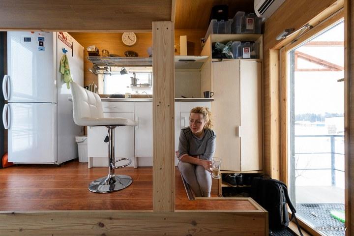 Втроем на 16 квадратных метрах. Семья живет в микродоме под Минском (6)