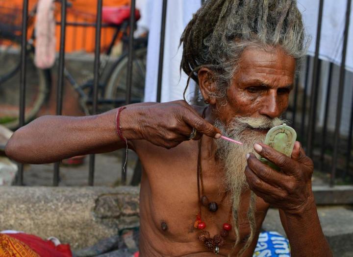 Колоритные портреты индуистских паломников (16)