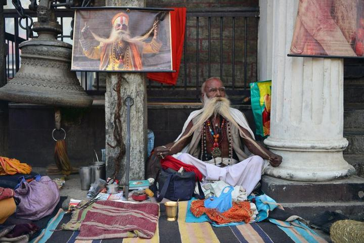 Колоритные портреты индуистских паломников (15)