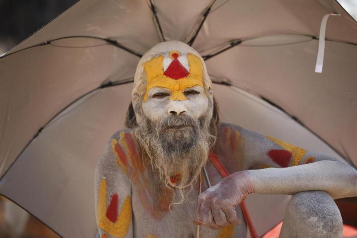 Колоритные портреты индуистских паломников (14)