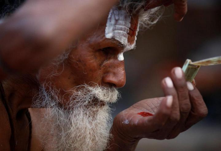 Колоритные портреты индуистских паломников (10)