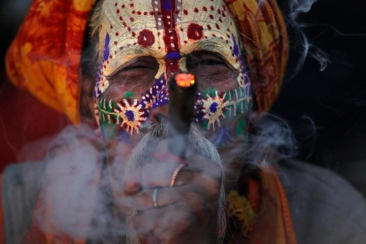 Колоритные портреты индуистских паломников (5)