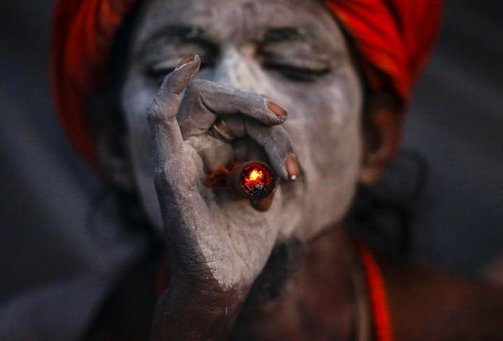 Колоритные портреты индуистских паломников (2)