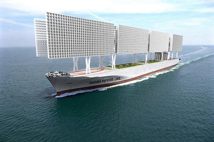 Французские архитекторы разработали проект тюрьмы-корабля (3)