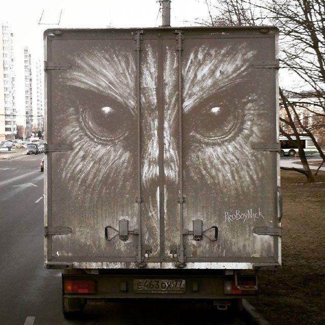 Рисунки на грязных автомобилях… (8 фото)