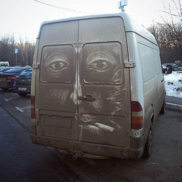 Рисунки на грязных автомобилях (5)