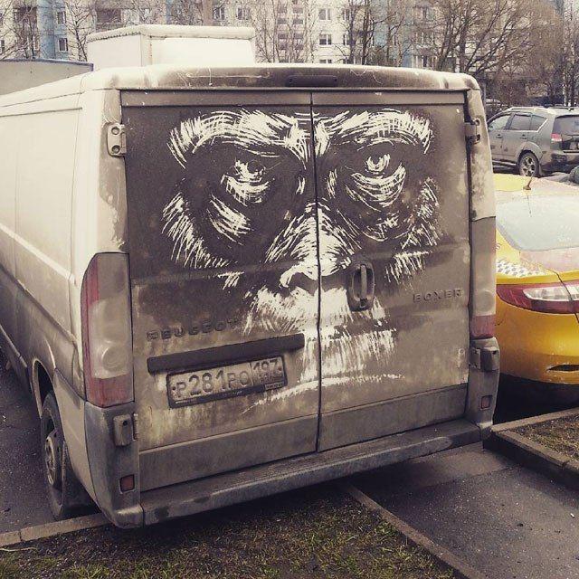 Рисунки на грязных автомобилях (6)