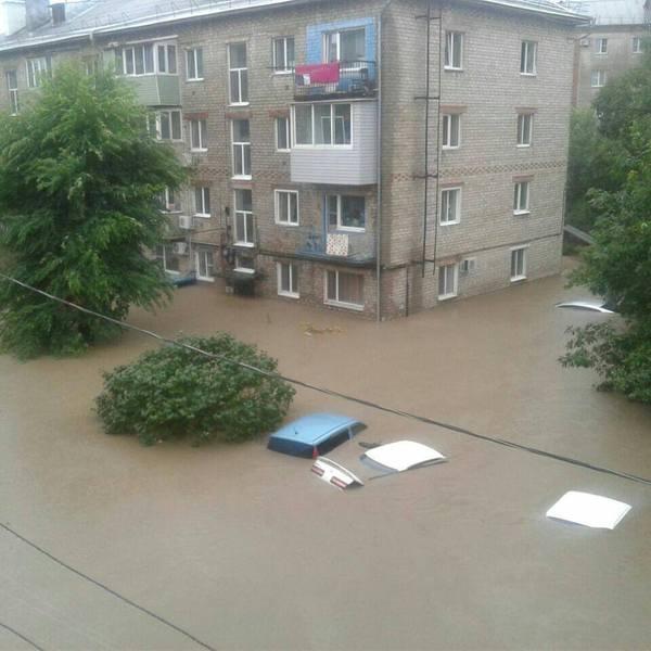 Мощнейшие ливни в Приморье (1)
