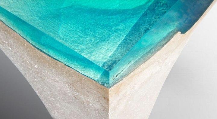 Удивительная мебель из стекла и мрамора (3)