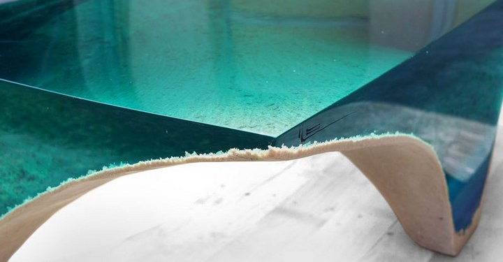 Удивительная мебель из стекла и мрамора (13)