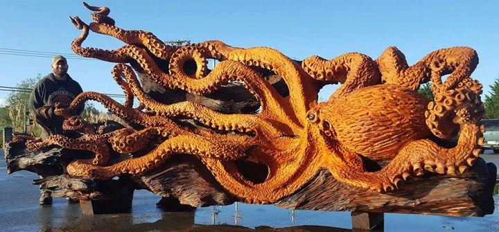 Превращение корня дерева в гигантского осьминога (15)