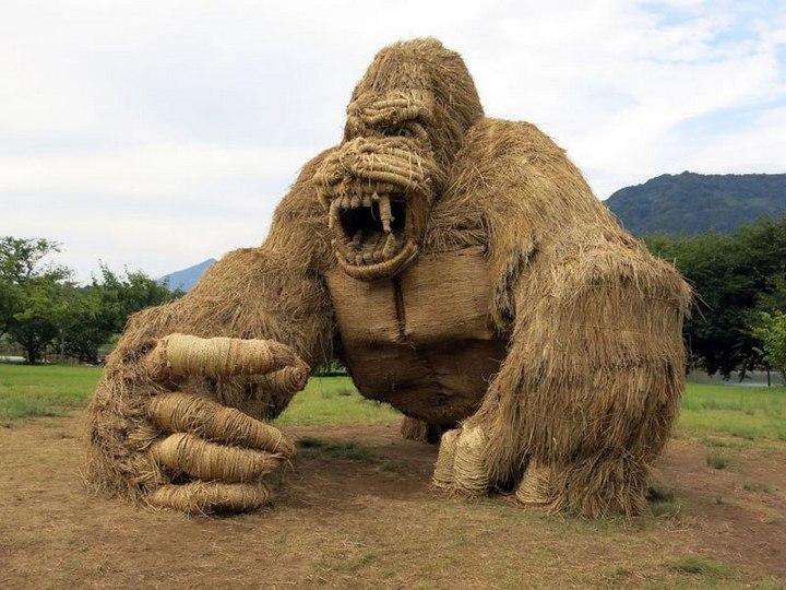 Потрясающие скульптуры из соломы от японских студентов (1)