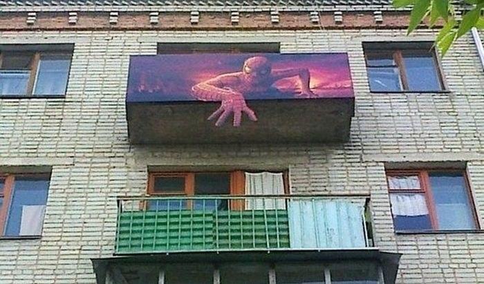 Балкон в России как объект для творчества и креативных идей (20)