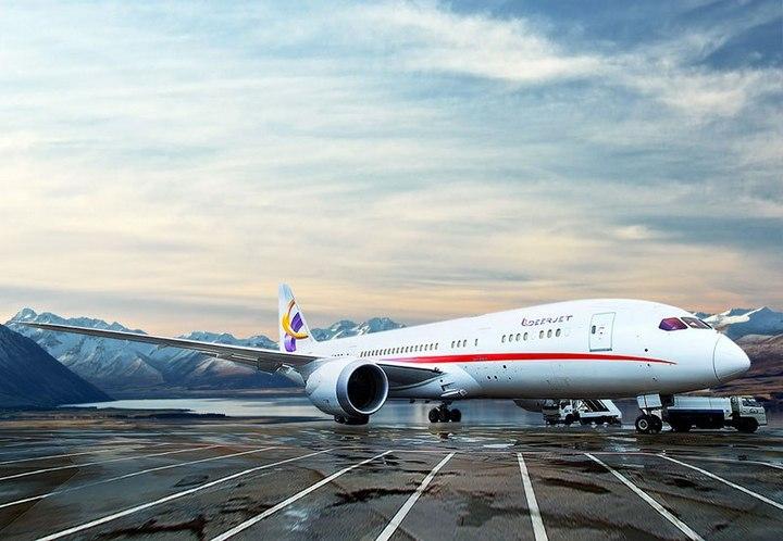 Boeing 787-8 Dreamliner с шикарным интерьером (2)