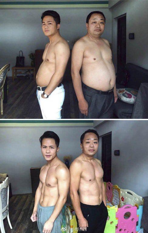 Отец и сын за 6 месяцев привели свои тела в порядок (1)