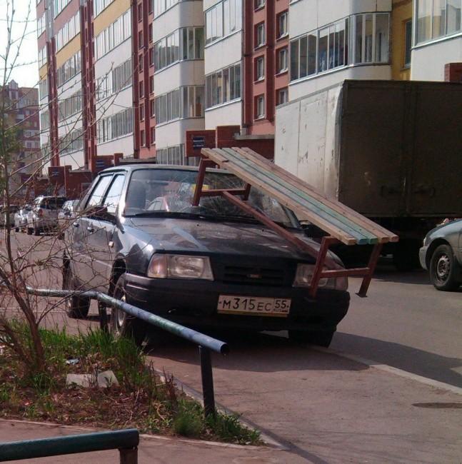 Подборка наказаний за хамскую парковку (1)