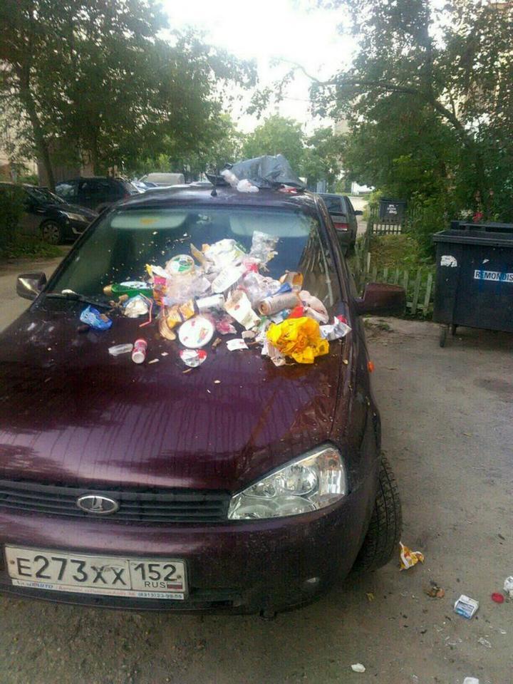 Подборка наказаний за хамскую парковку (10)