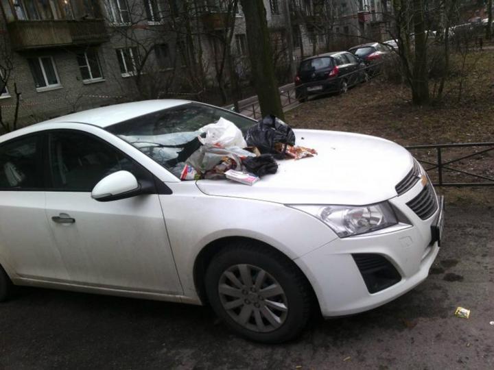 Подборка наказаний за хамскую парковку (11)